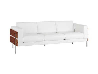 Habitat days forum ii sofa white leather twenty first for Chaise robin day habitat